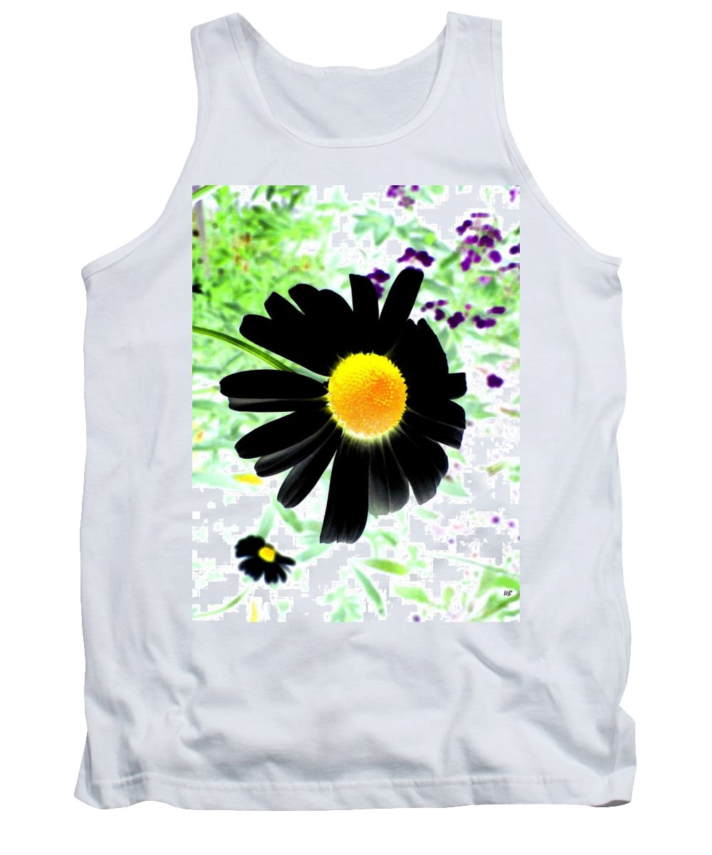 Photo Design Tank Top featuring the photograph Black Daisy by Will Borden