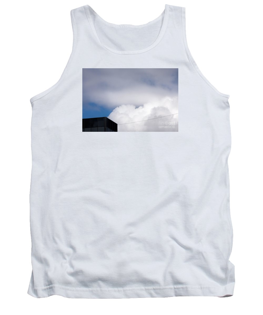 Above Tank Top featuring the photograph Black House #9312 by Andrey Godyaykin