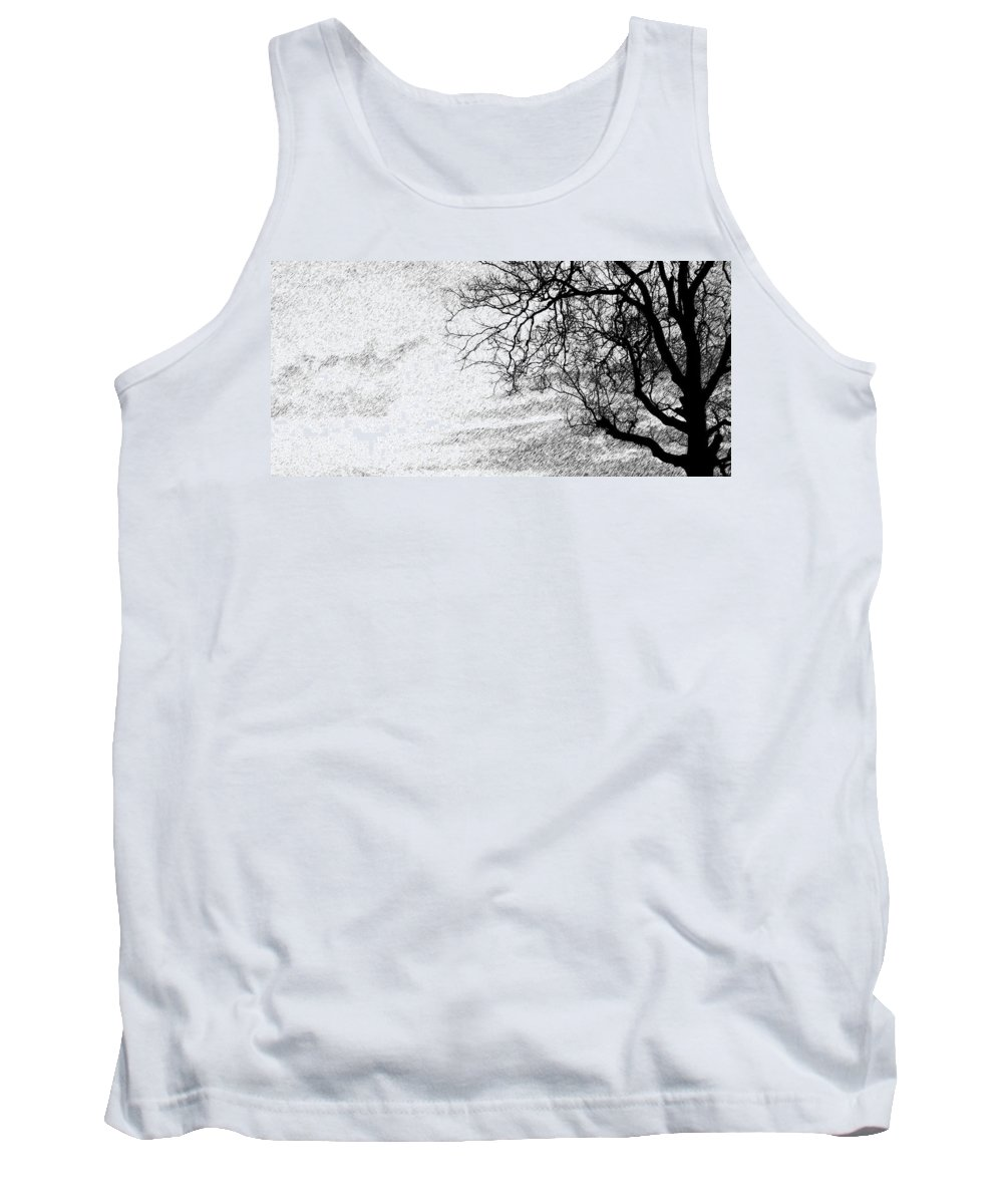 Sky Tank Top featuring the photograph Black Rain by Ed Smith