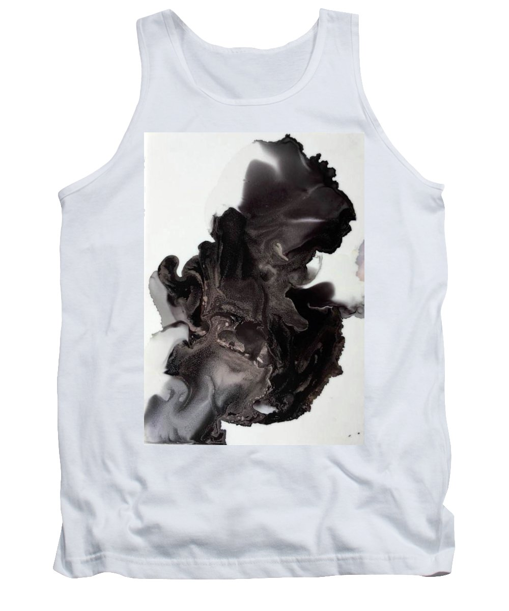 Abstract Tank Top featuring the painting Black Smoke by MaryAnn Lockard