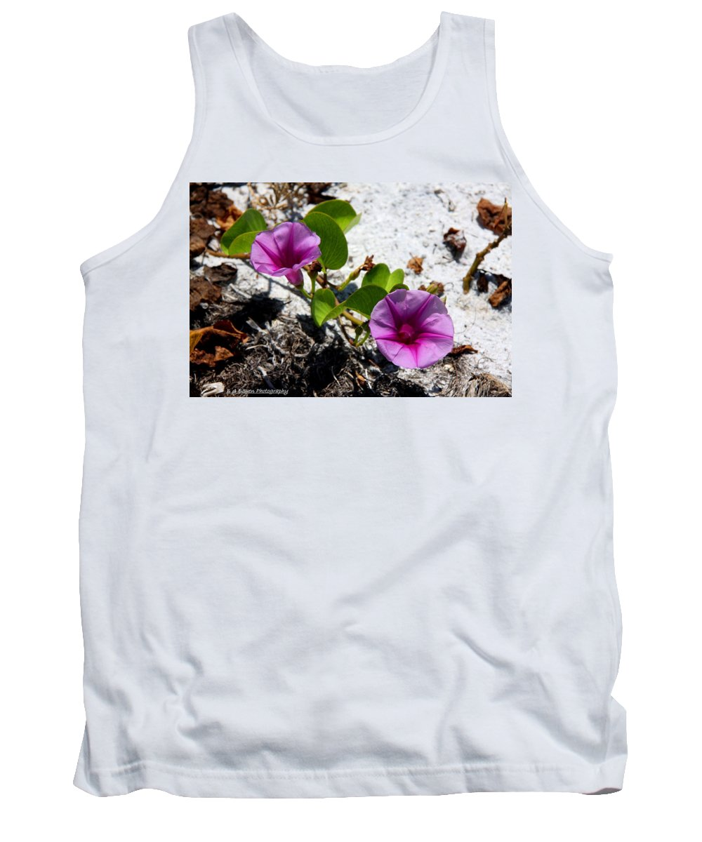 Cross Vine Tank Top featuring the photograph Bloomin Cross Vine by Barbara Bowen