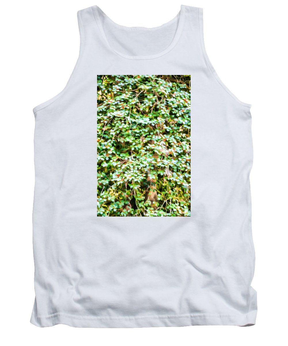 Bougainvillea Tank Top featuring the painting Blooming Shrubs by Jeelan Clark