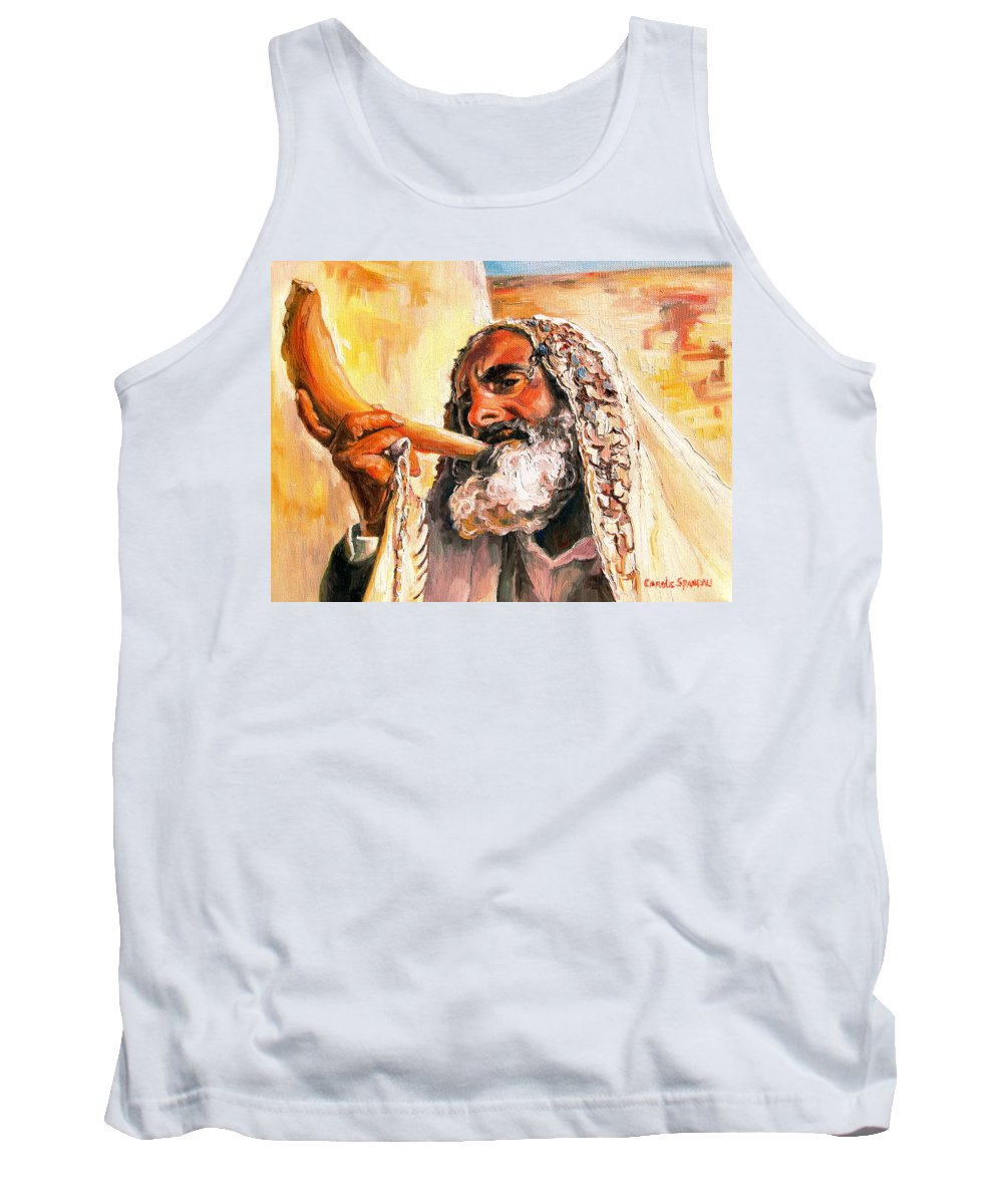Rabbis Tank Top featuring the painting Blow The Trumpet In Zion by Carole Spandau