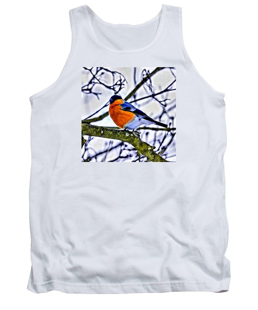 Bird Tank Top featuring the photograph Blue Bird by Modern Art