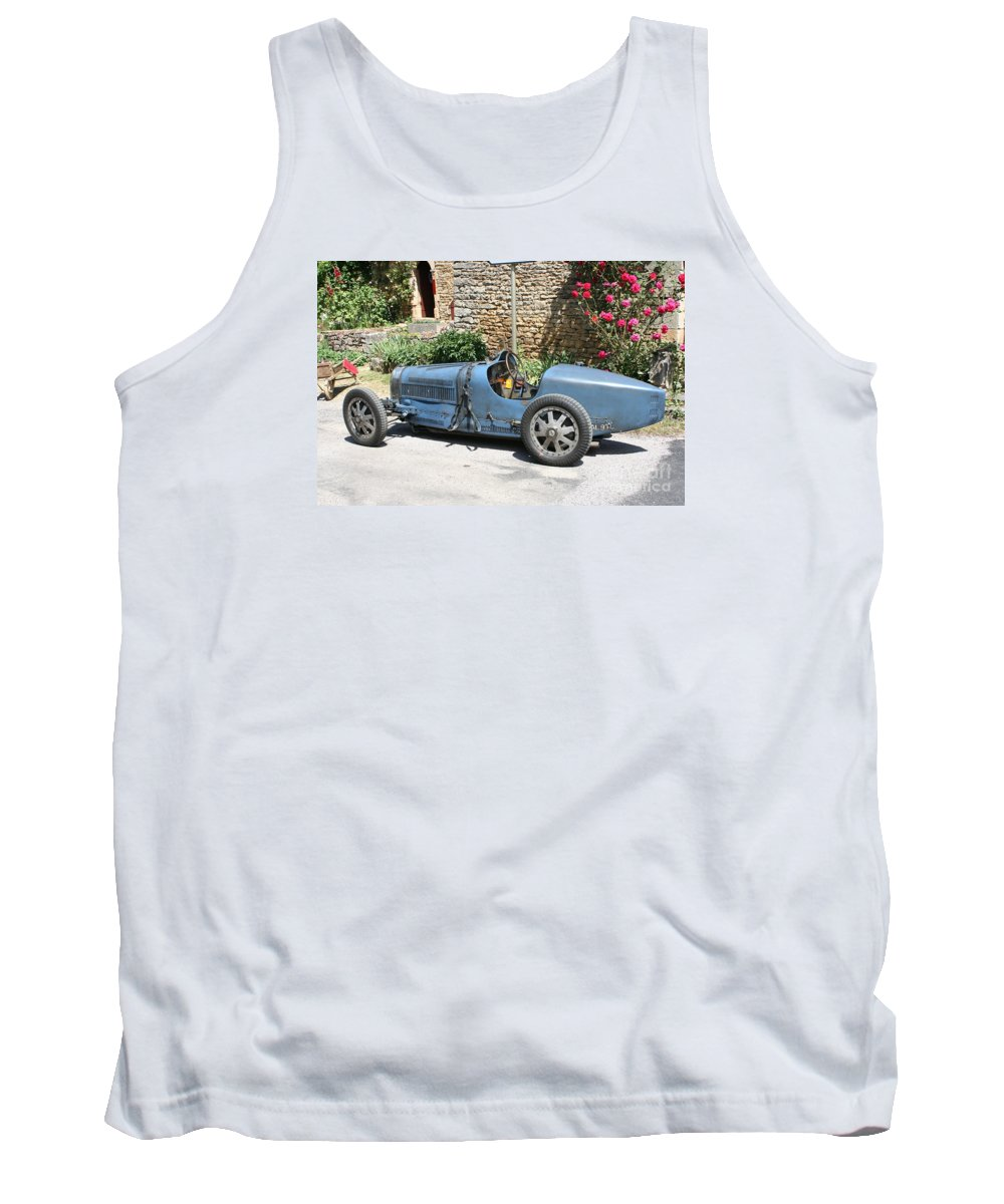 Oldtimer Tank Top featuring the photograph Blue Bugatti Oldtimer by Christiane Schulze Art And Photography
