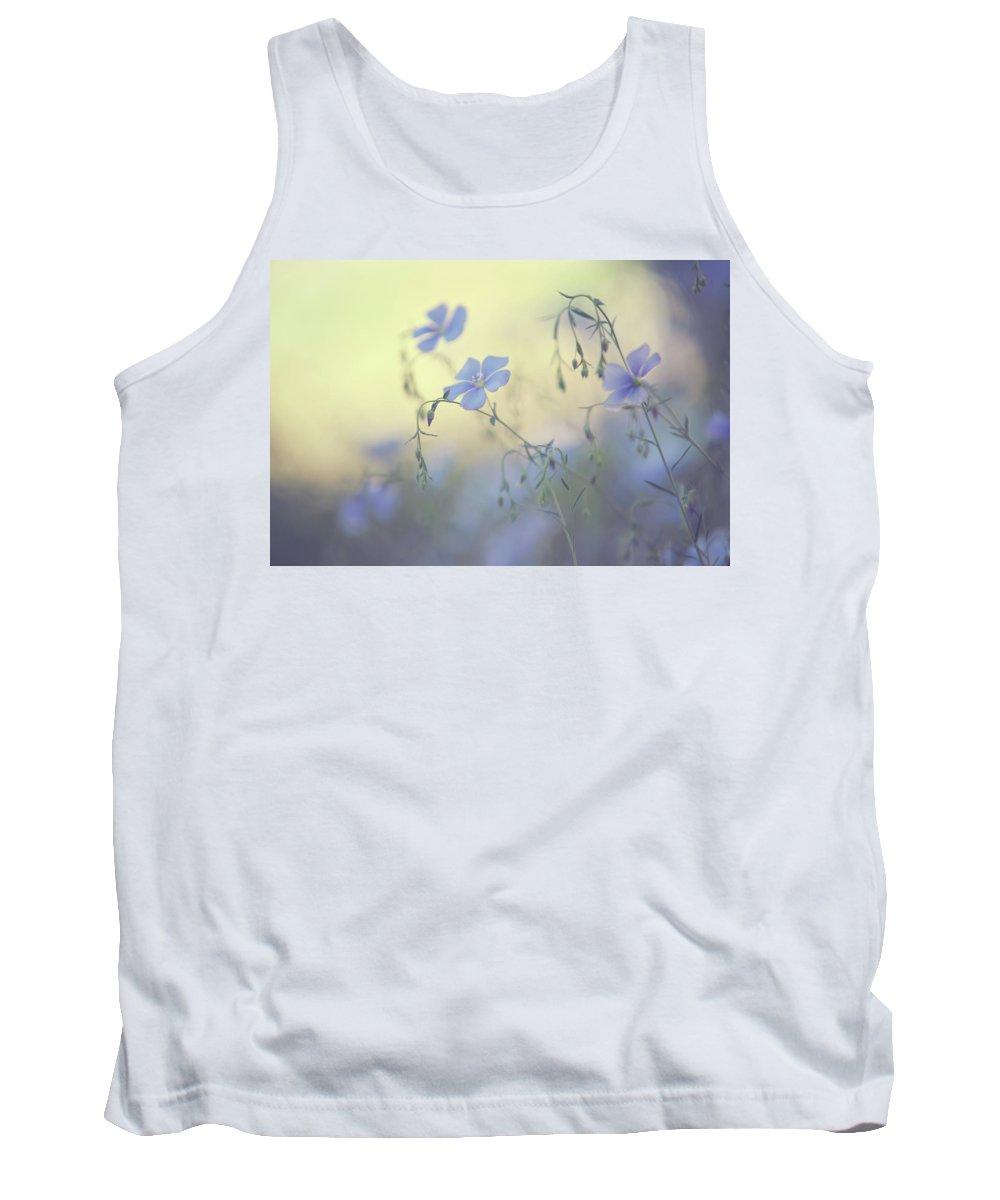 Jenny Rainbow Fine Art Photography Tank Top featuring the photograph Blue Flex Flower. Nostalgic by Jenny Rainbow