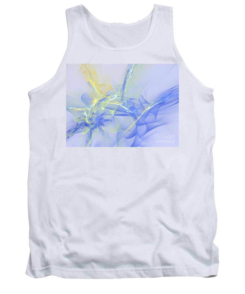 Apophysis Tank Top featuring the digital art Blue For You by Deborah Benoit