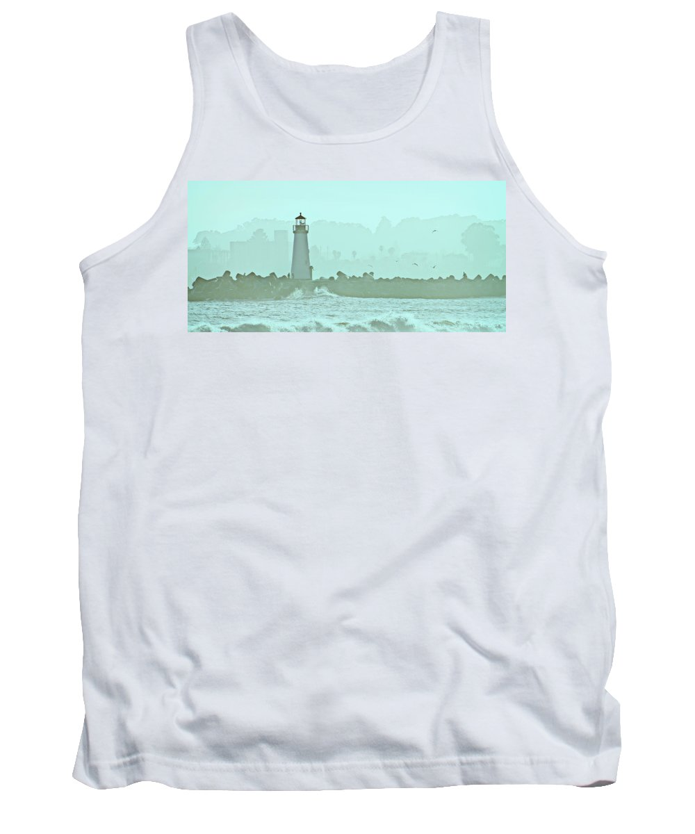 Blue Tank Top featuring the photograph Blue Mist 1 by Marilyn Hunt