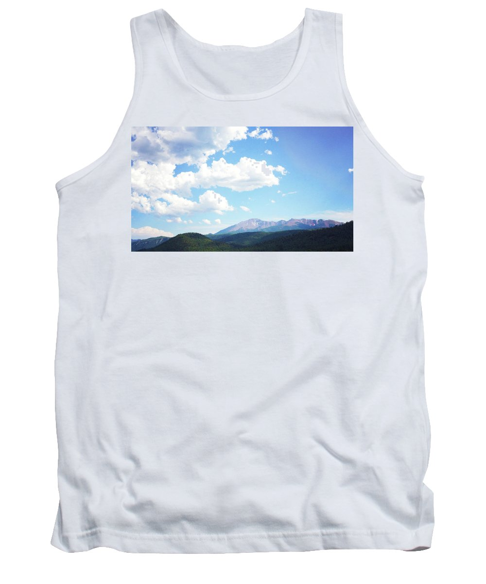 Mountain Tank Top featuring the photograph Blue Mountain by Megan Swormstedt