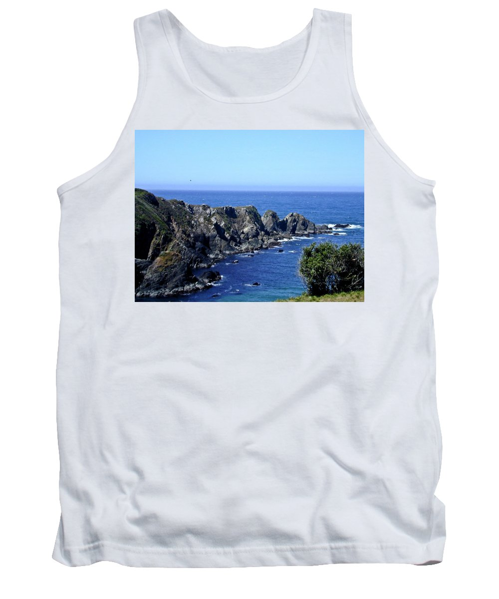 Blue Tank Top featuring the photograph Blue Pacific by Douglas Barnett