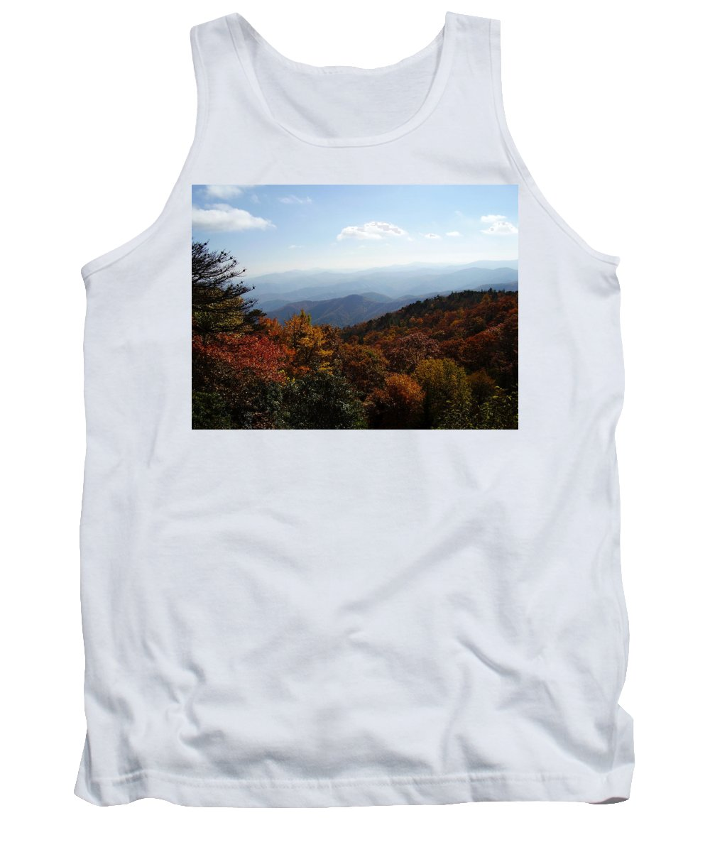 Blue Ridge Mountains Tank Top featuring the photograph Blue Ridge Mountains by Flavia Westerwelle