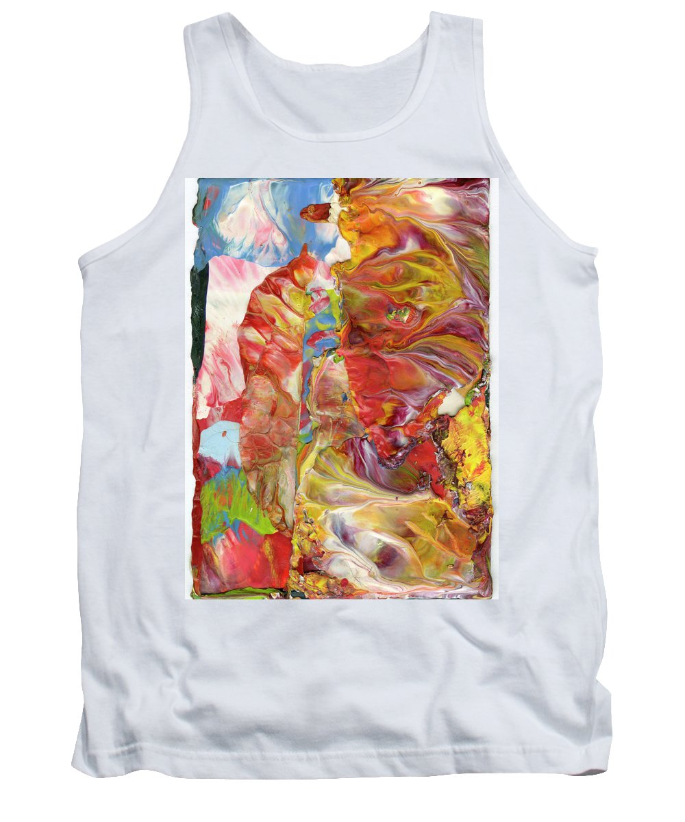 Abstract Metaphor Tank Top featuring the painting Blue Sky For Armageddon by Sperry Andrews