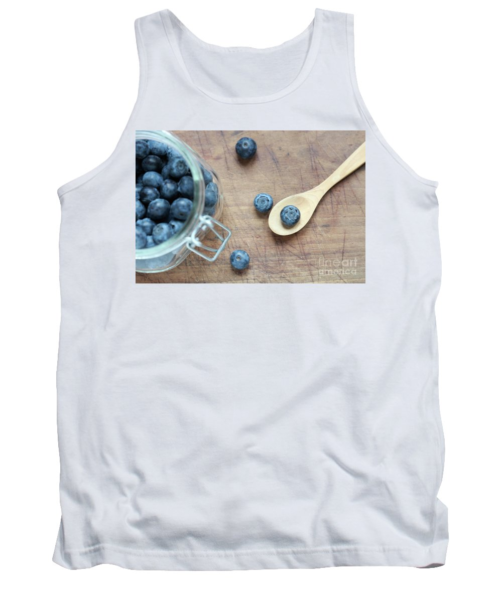 Blueberry Tank Top featuring the photograph Blueberries by Jana Behr