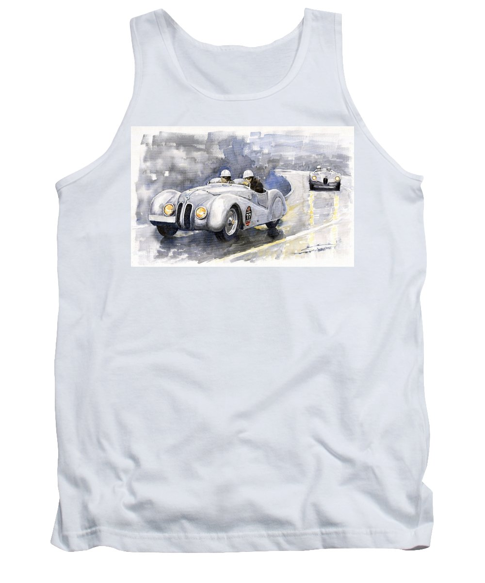 Auto Tank Top featuring the painting Bmw 328 Roadster by Yuriy Shevchuk