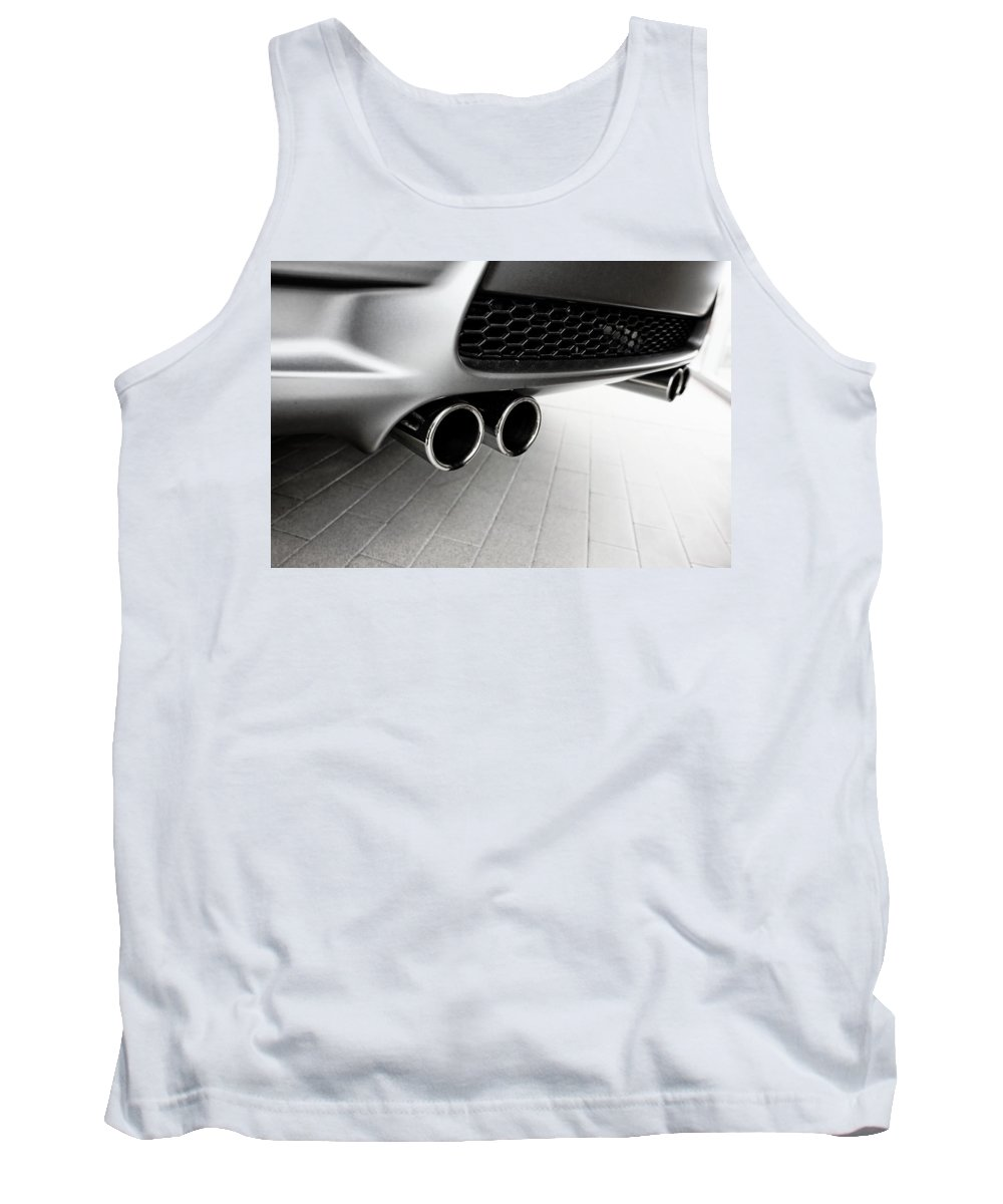 Bmw M3 Tank Top featuring the photograph Bmw M3 Exhaust by Aaron Berg