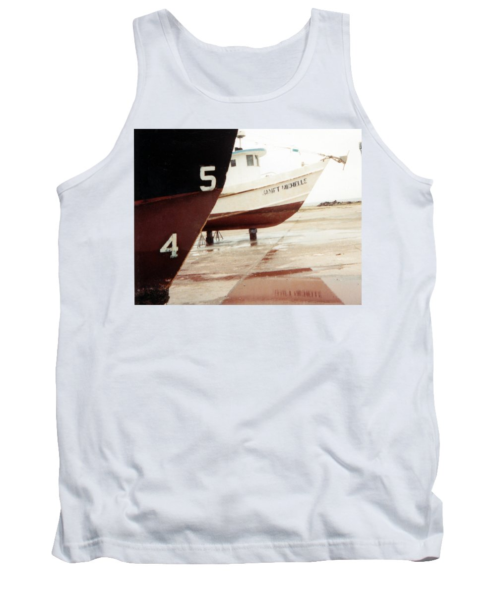 Boat Reflection Tank Top featuring the photograph Boat Reflection 2 by Cindy New