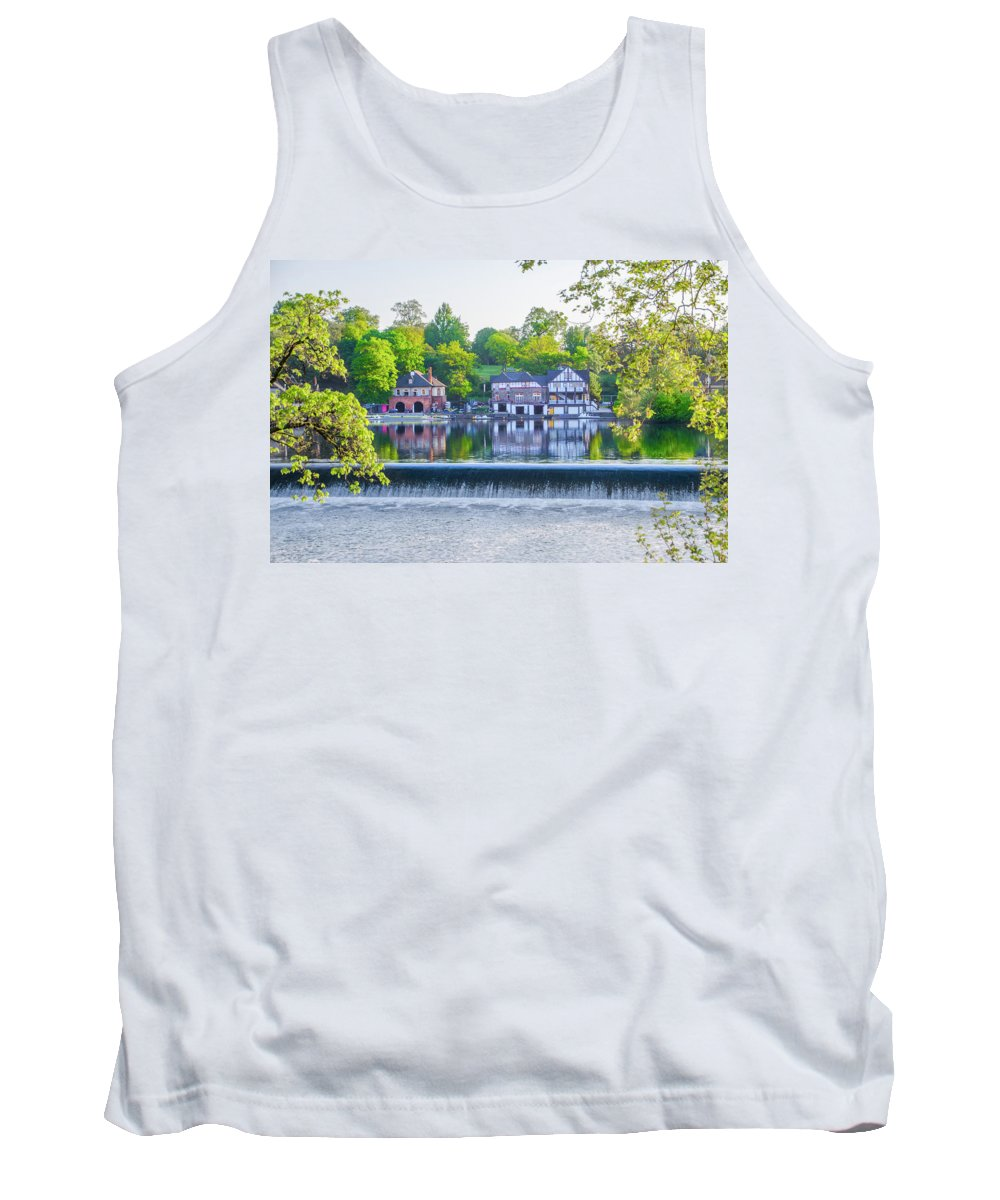 Boathouse Tank Top featuring the photograph Boathouse Row - Framed In Spring by Bill Cannon