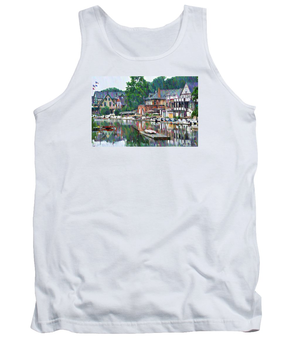 Boathouse Tank Top featuring the photograph Boathouse Row In Philadelphia by Bill Cannon