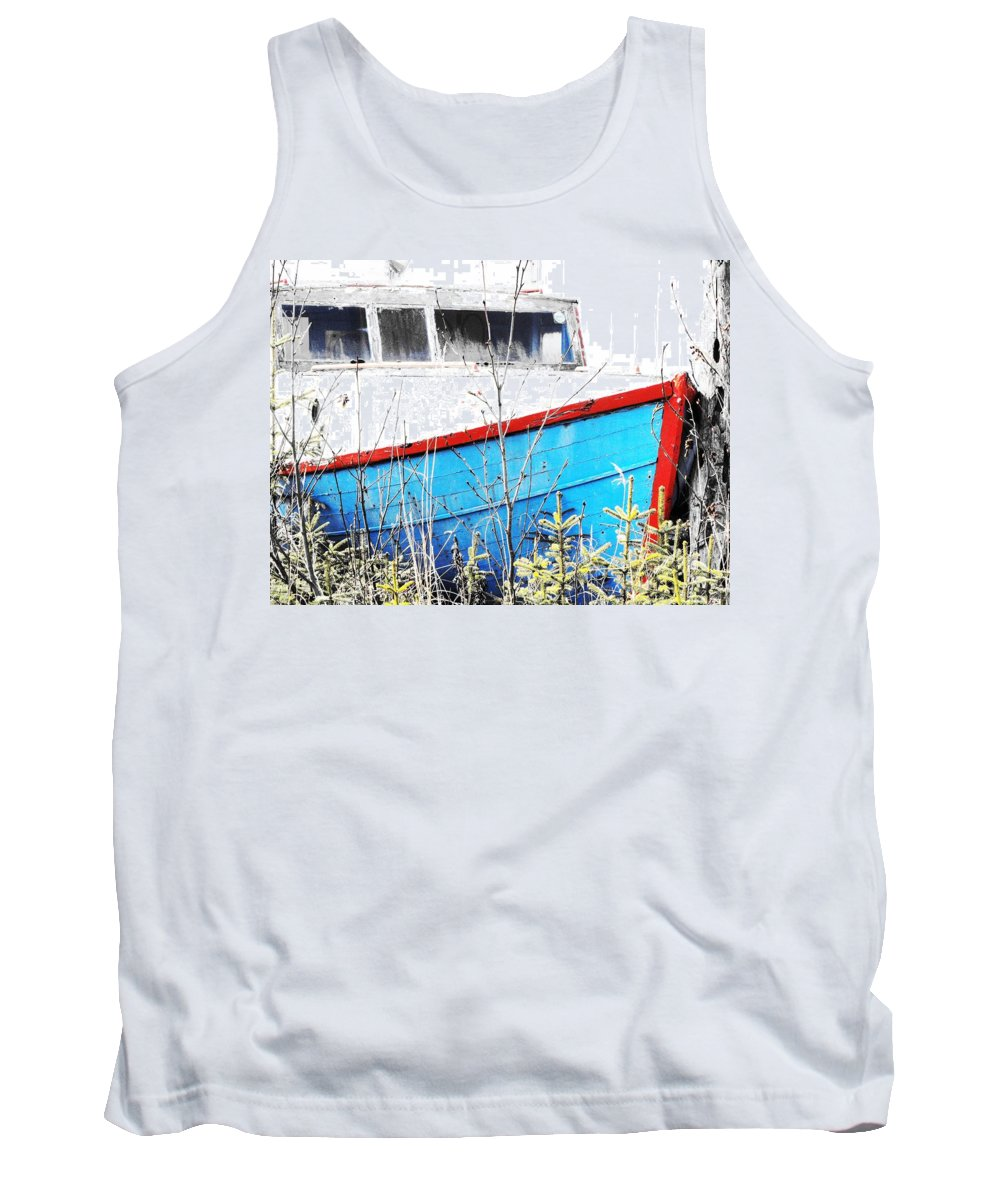 Boats In The Garden Tank Top featuring the photograph Boats In The Garden by Lori Mahaffey