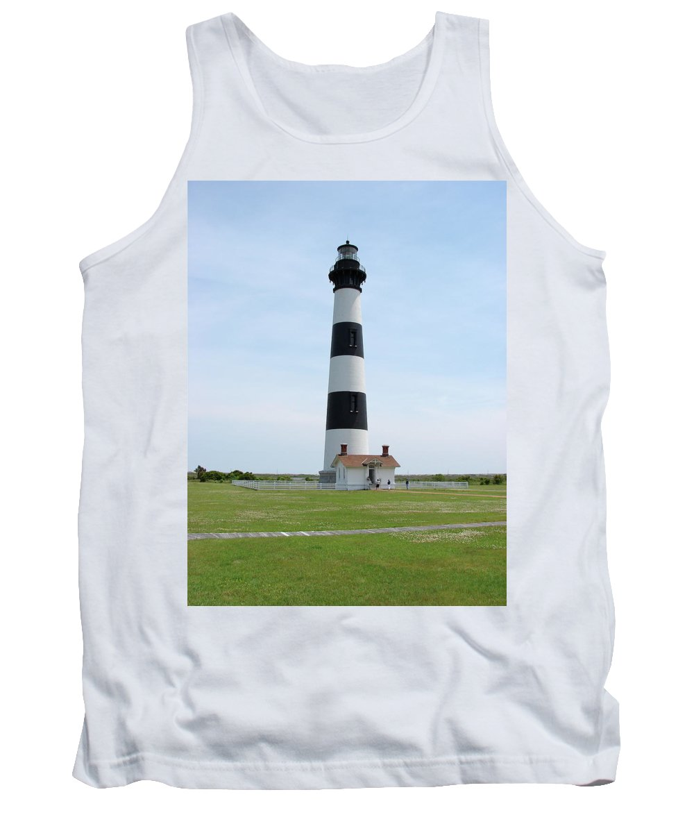 Bodie Lighthouse Tank Top featuring the photograph Bodie Lighthouse Nags Head Nc II by Brett Winn