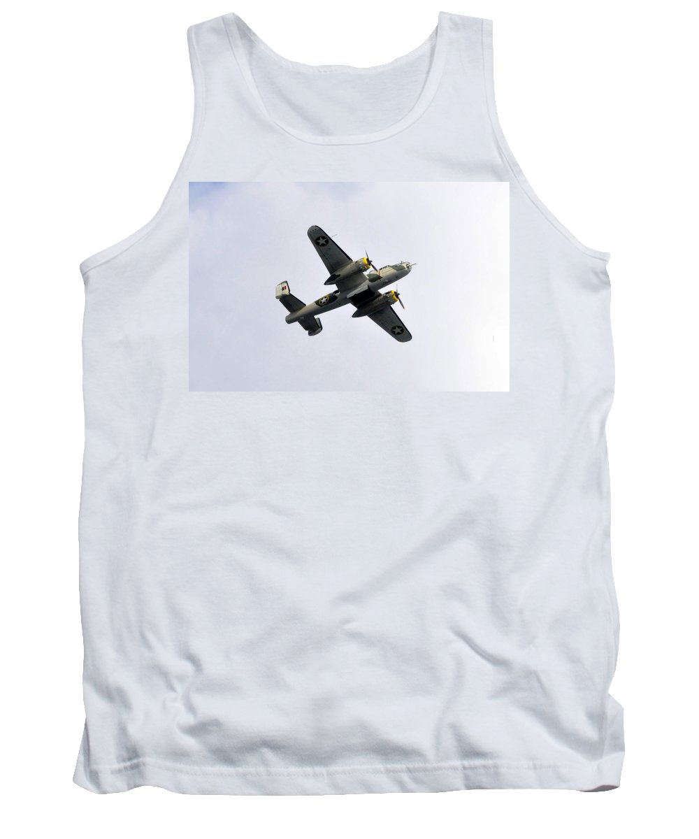 North American B 25 Mitchel Bomber Tank Top featuring the photograph Bombs Away by David Lee Thompson