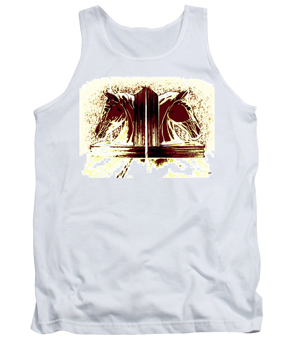 Horses Tank Top featuring the digital art Bookend Buddies by Will Borden