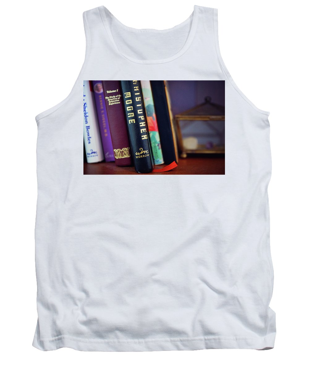 Book Tank Top featuring the photograph Books by Megan Swormstedt