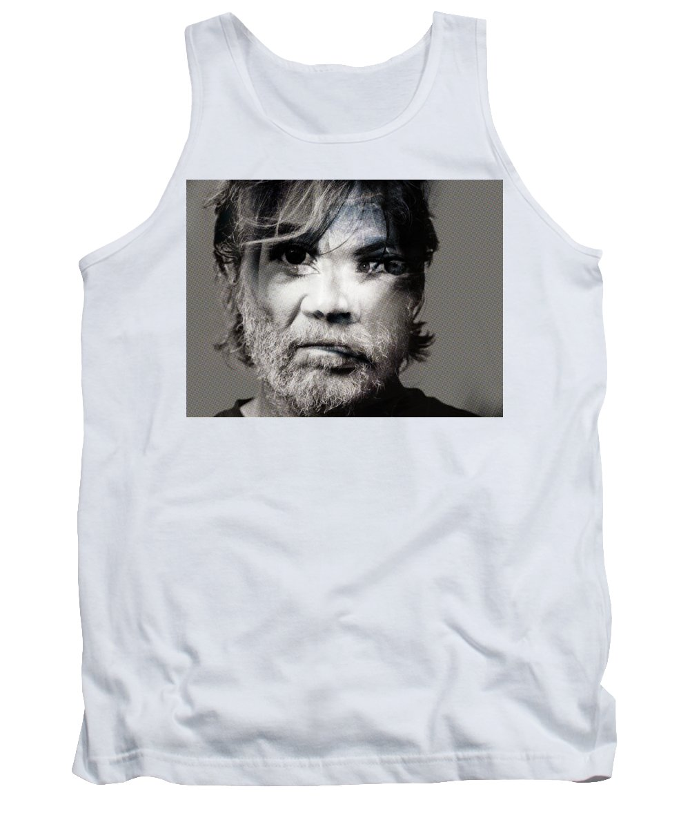 Tank Top featuring the painting Boom by Maciej Mackiewicz