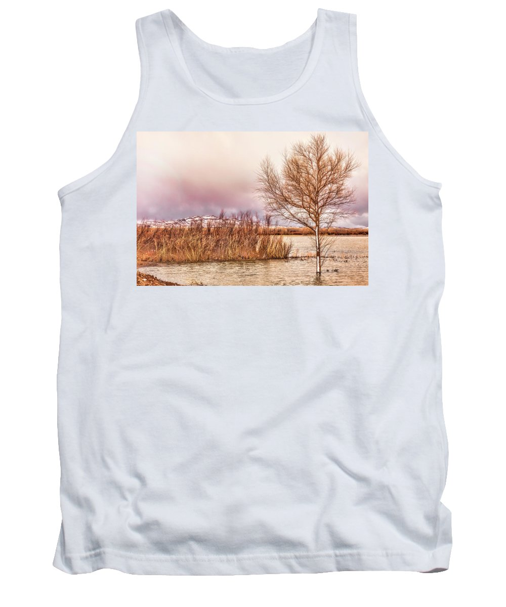 Bosque Del Apache Tank Top featuring the photograph Bosque Winter II by Diana Powell