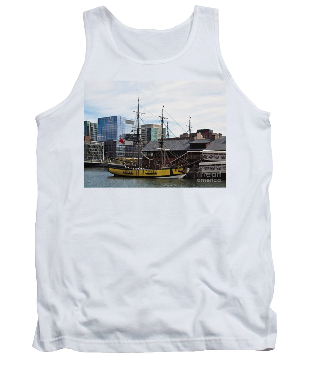 America Tank Top featuring the photograph Boston Tea Party 14bos045 by Howard Stapleton