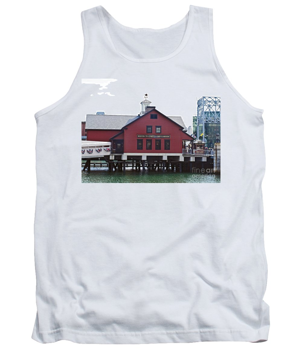 America Tank Top featuring the photograph Boston Tea Party 14bos046 by Howard Stapleton