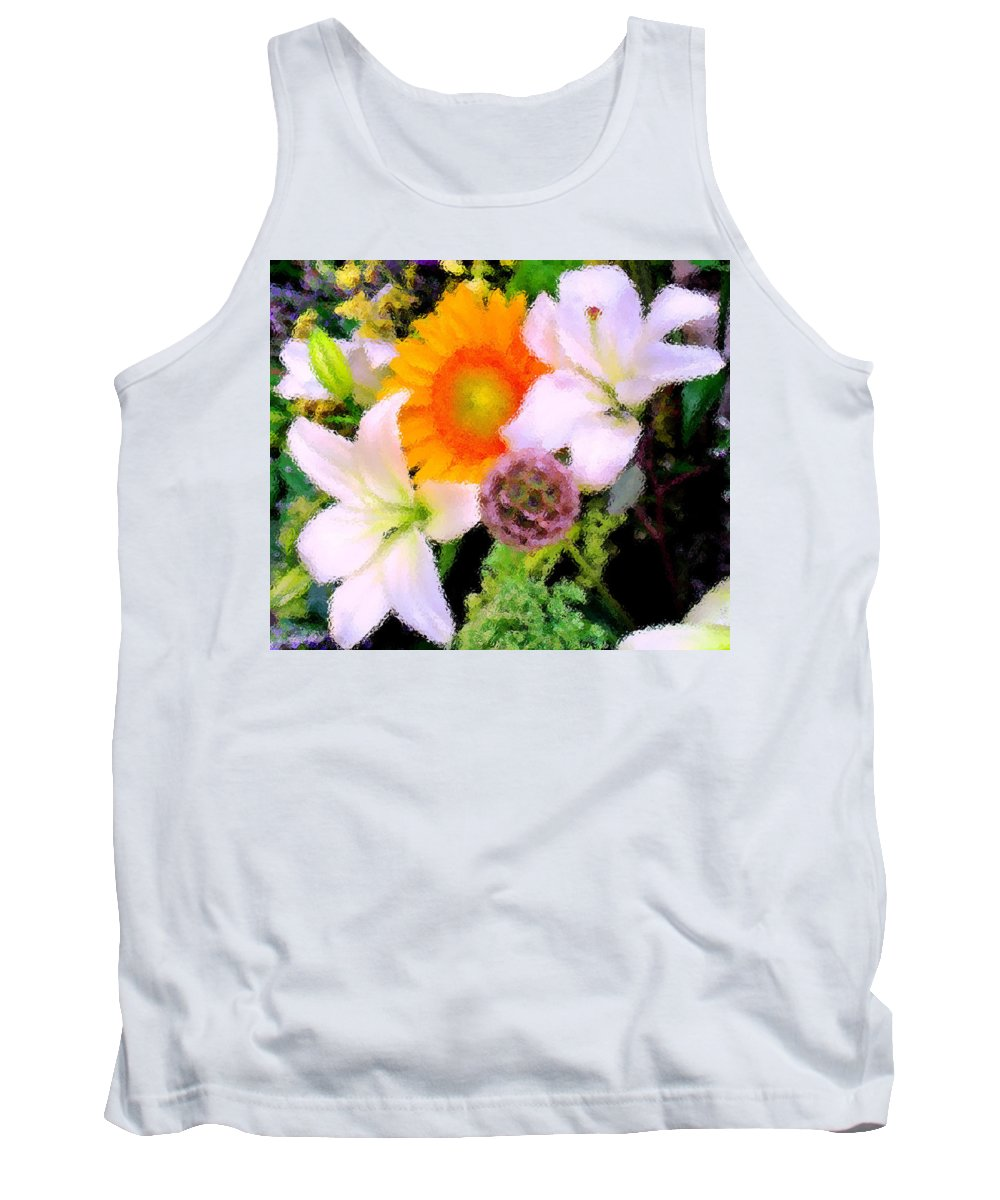 Sun Tank Top featuring the photograph Bouquet Softly There by Ian MacDonald