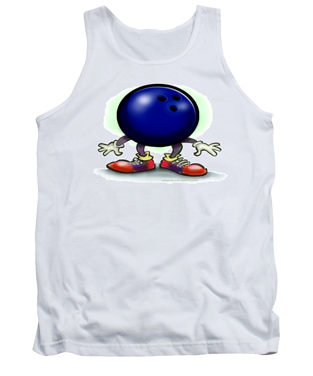 Bowl Tank Top featuring the greeting card Bowling by Kevin Middleton