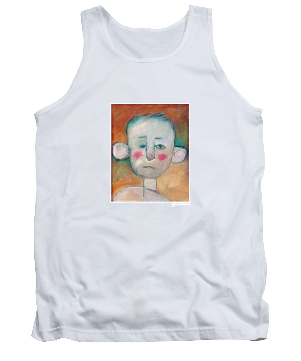 Boy Tank Top featuring the painting Boy by Tim Nyberg