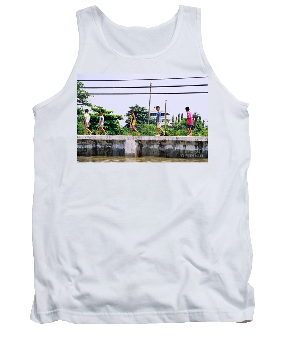 Children Tank Top featuring the photograph Boys In Bangkok by Mary Rogers