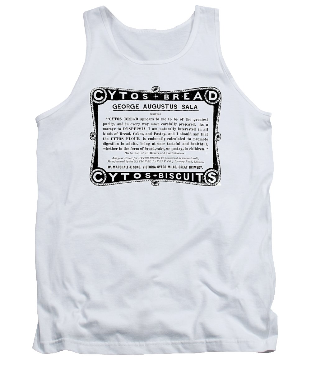 1896 Tank Top featuring the painting Bread Ad C1896 by Granger