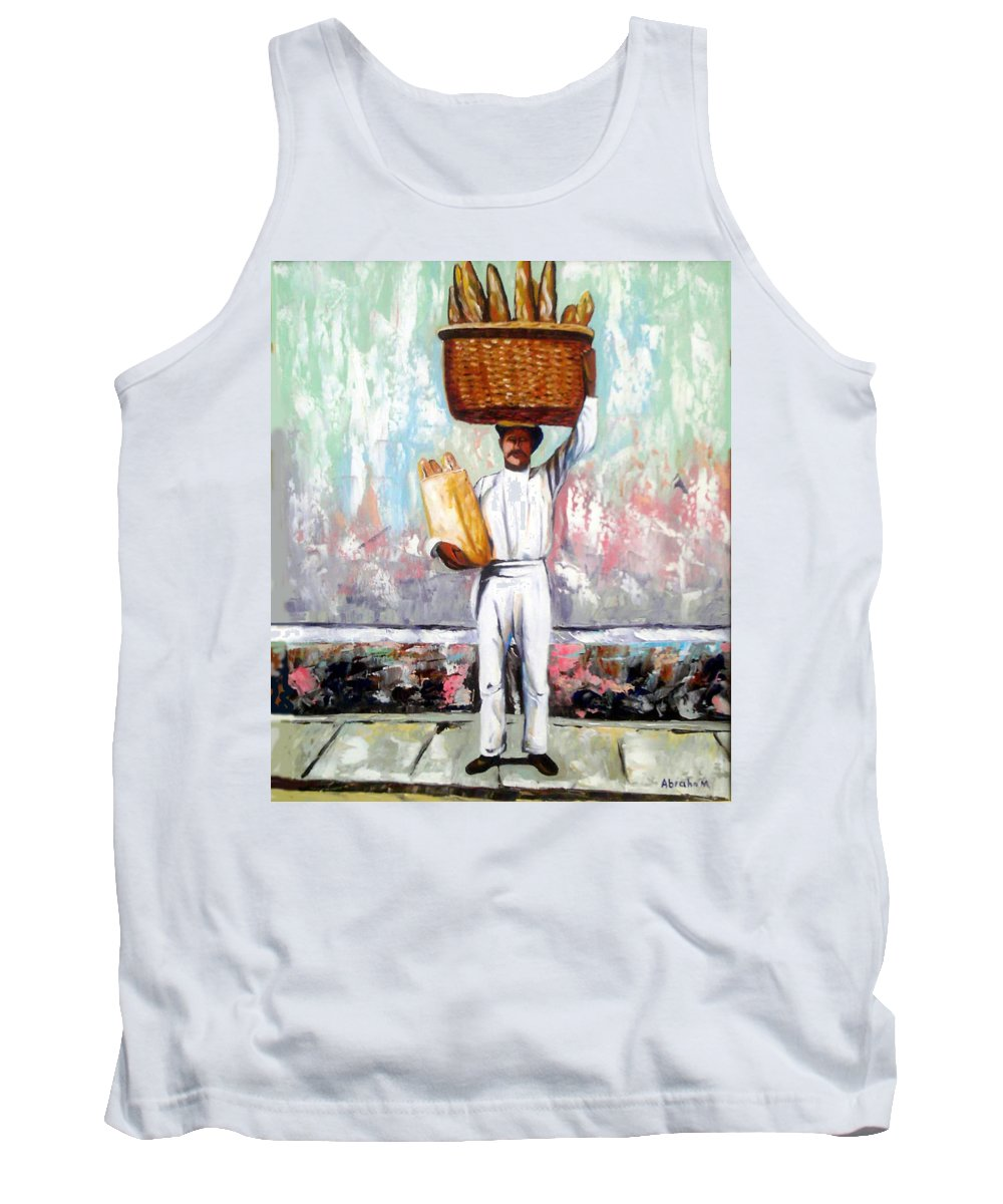 Bread Tank Top featuring the painting Breadman by Jose Manuel Abraham