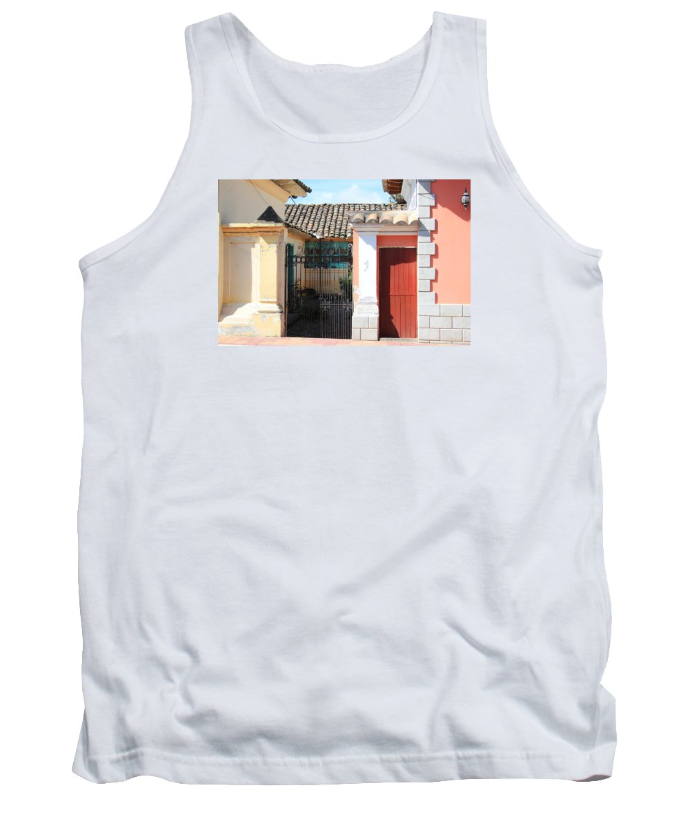 House Tank Top featuring the photograph Brick House With Iron Gate by Robert Hamm