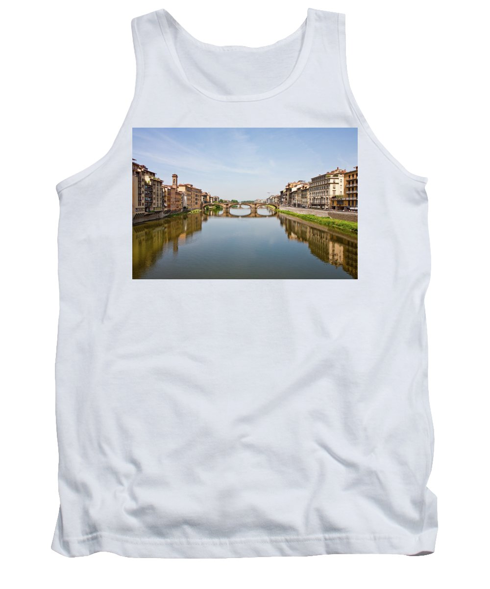 Arno Tank Top featuring the photograph Bridge Over Arno River In Florence Italy by Darryl Brooks