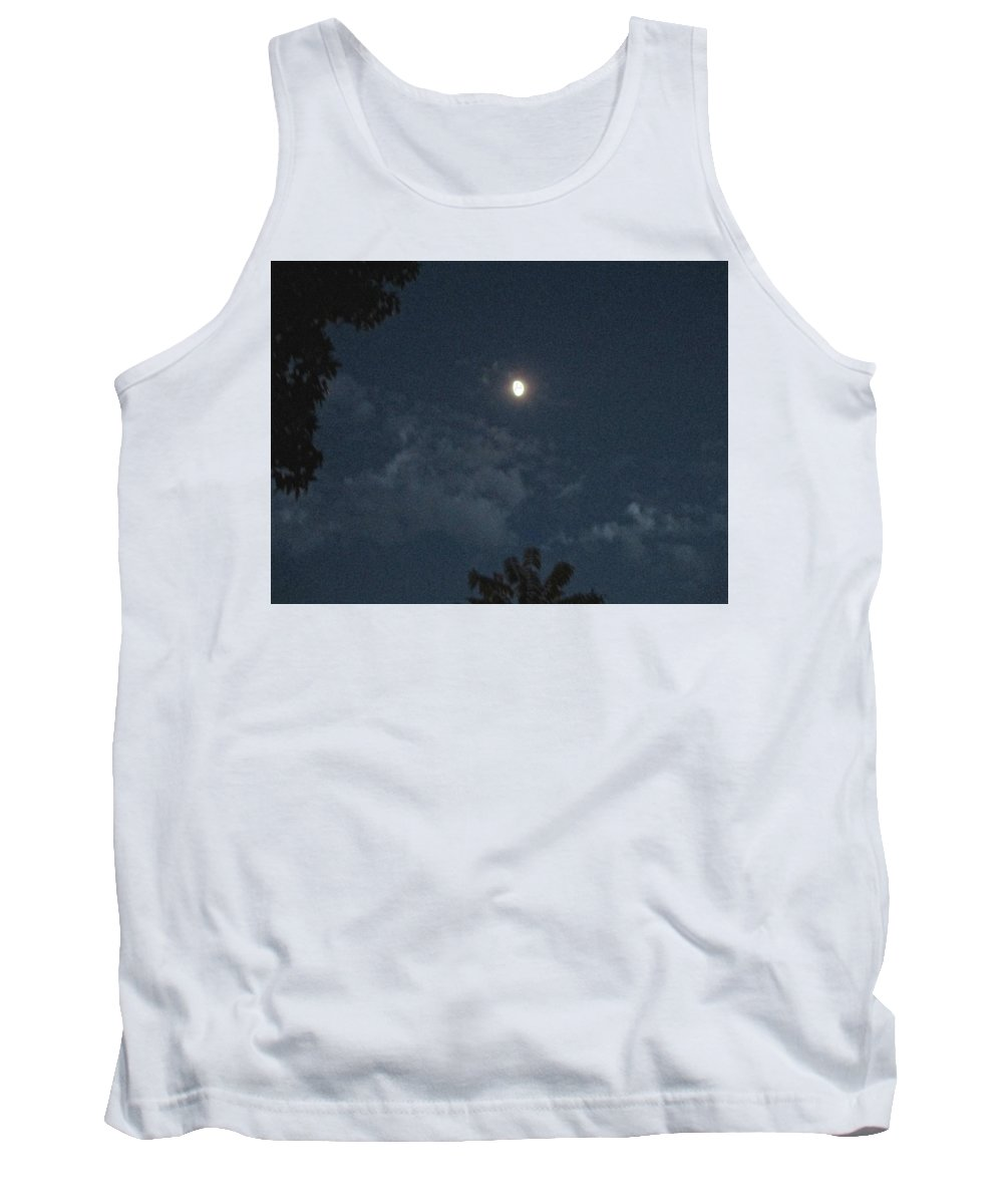 Night Tank Top featuring the photograph Bright Moon by Janet K Wilcox