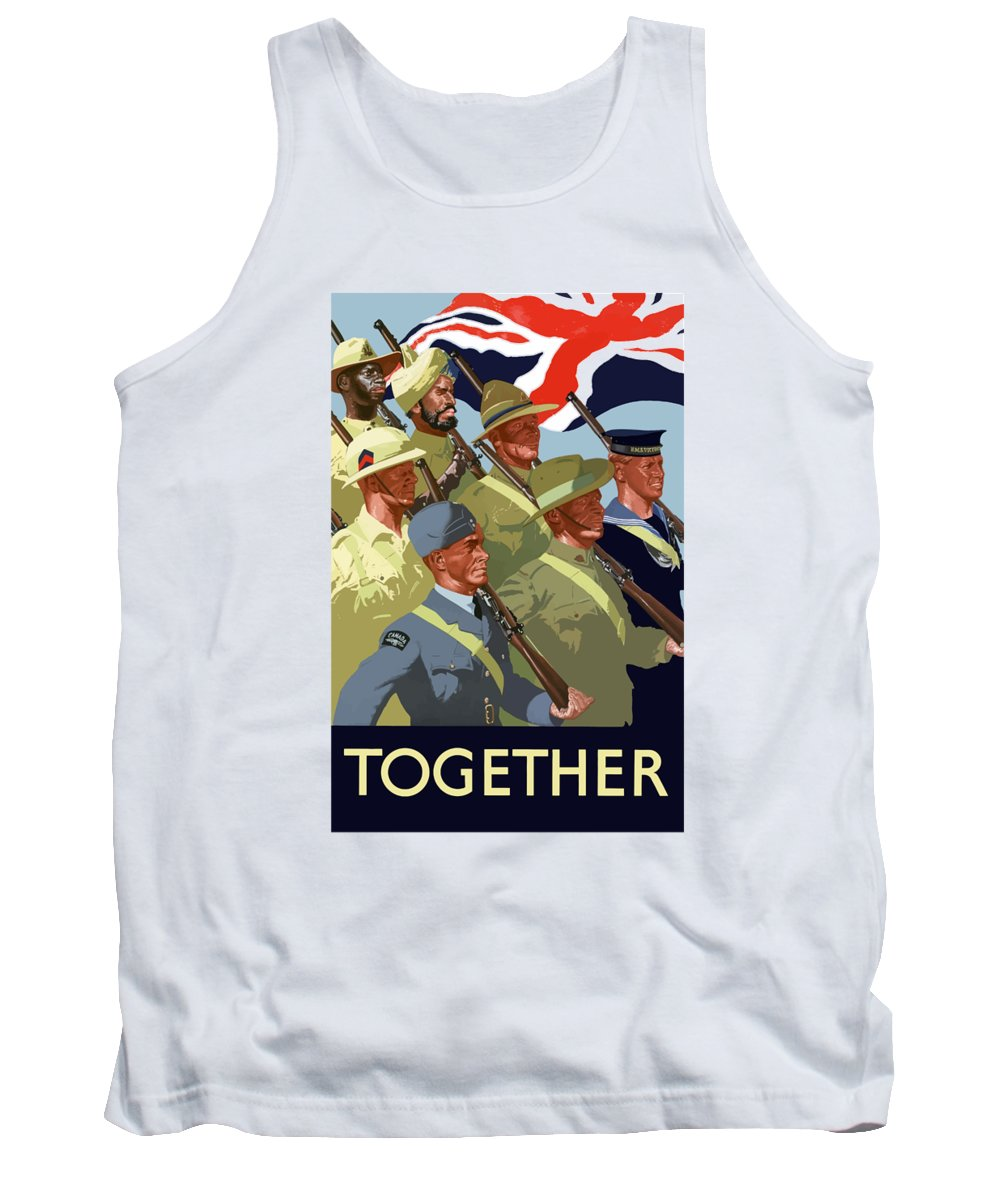 Union Flag Tank Top featuring the painting British Empire Soldiers Together by War Is Hell Store