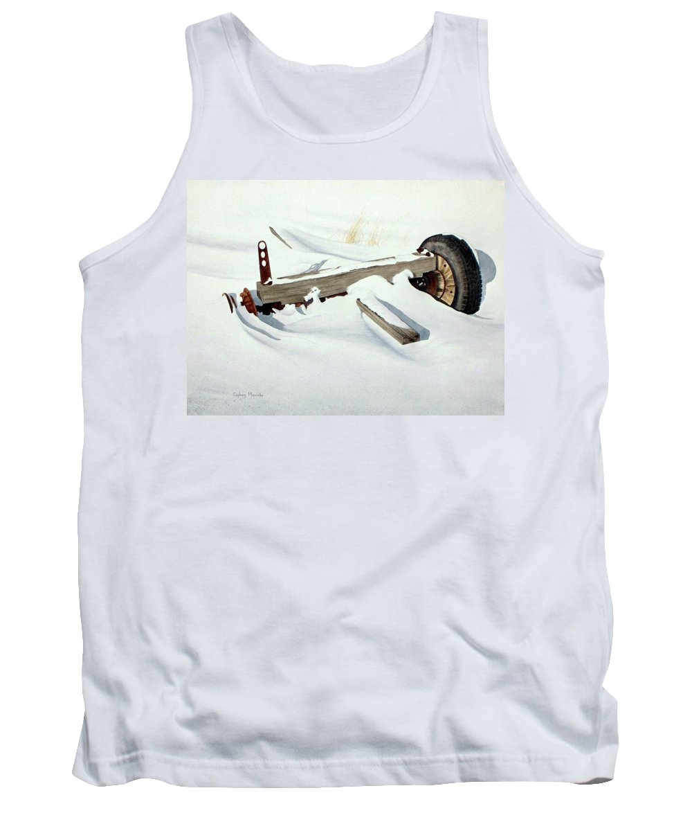 Winter Tank Top featuring the painting Broken Dreams by Conrad Mieschke