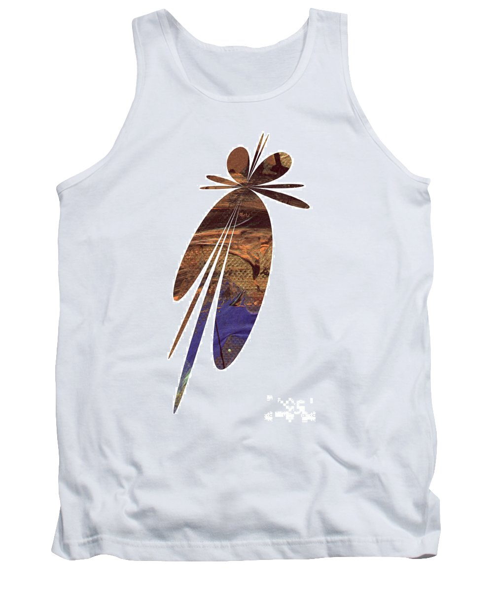 Abstract Tank Top featuring the digital art Brown Butterfly by Angela L Walker