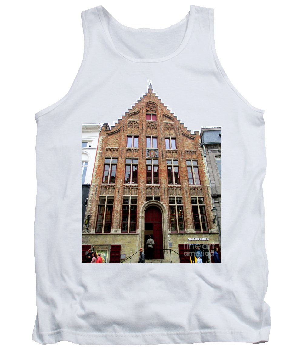 Bruges Tank Top featuring the photograph Bruges 34 by Randall Weidner