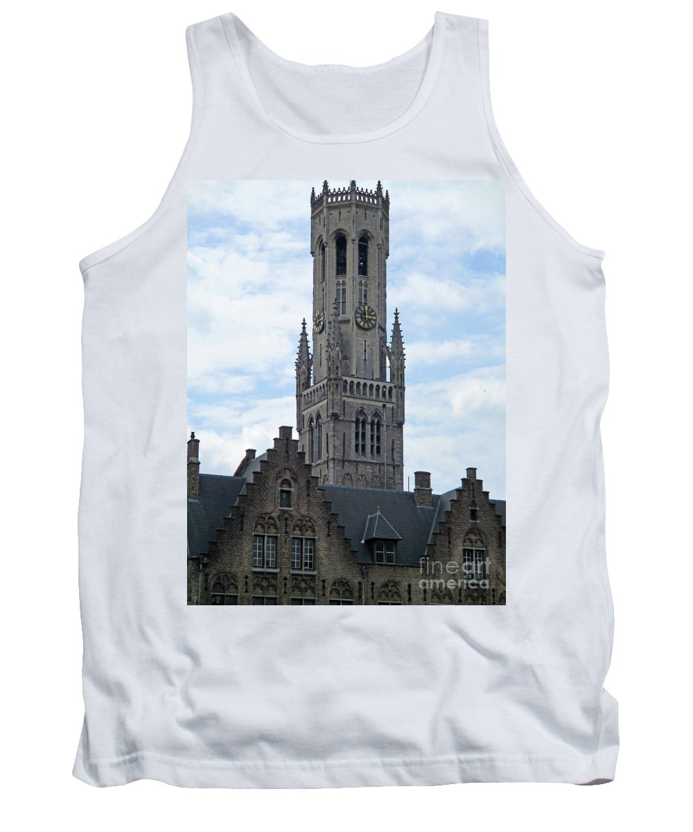 Bruges Tank Top featuring the photograph Bruges Belfry 7 by Randall Weidner