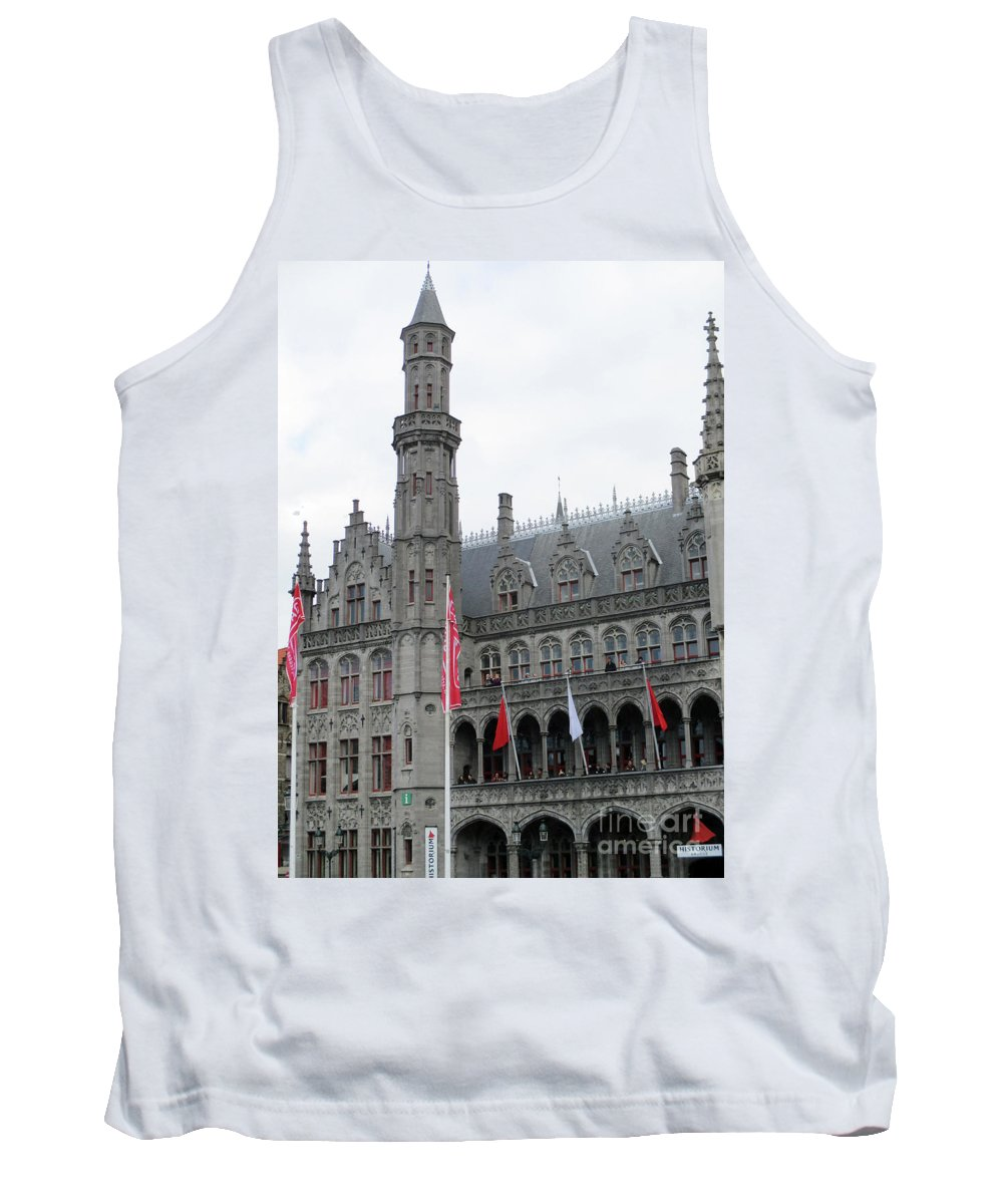 Bruges Tank Top featuring the photograph Bruges Markt 9 by Randall Weidner