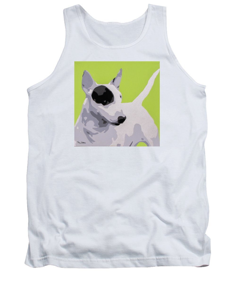 Dogs Tank Top featuring the painting Bull Terrier by Slade Roberts