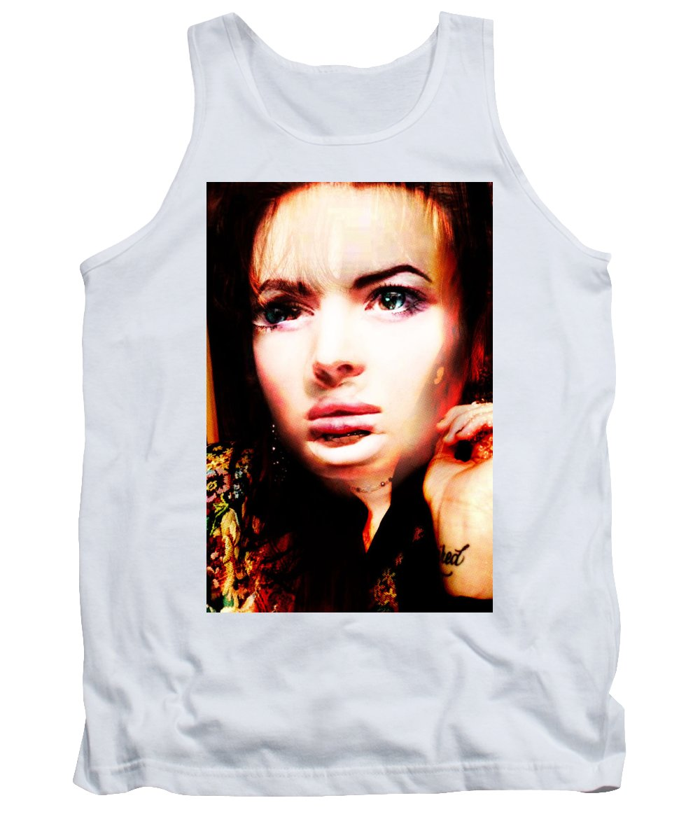 Tank Top featuring the painting But Tracy, You Are Beautifull by Maciej Mackiewicz