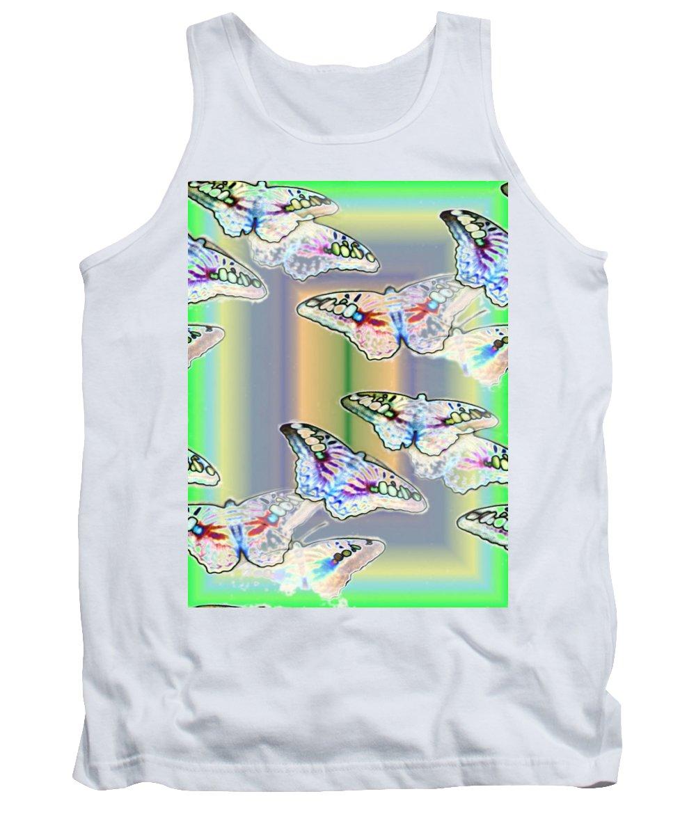 Butterflies Tank Top featuring the photograph Butterflies In The Vortex by Tim Allen