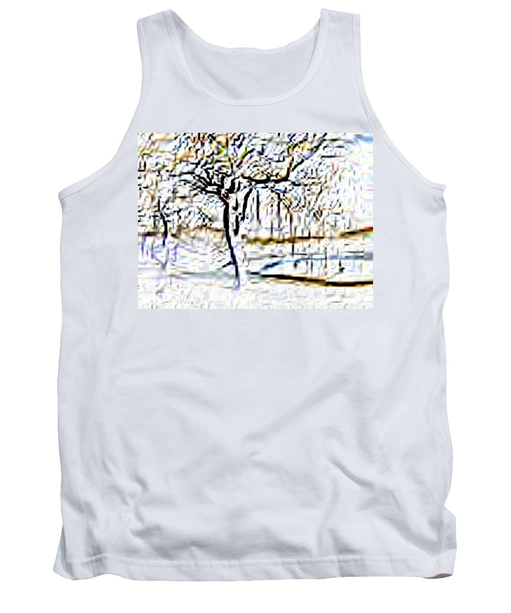 Tree Tank Top featuring the photograph By Waters Edge by Tim Allen